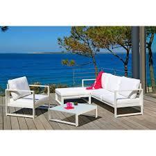 canape jardin aluminium lagoon salon de jardin 6 pièces alu achat vente salon de jardin
