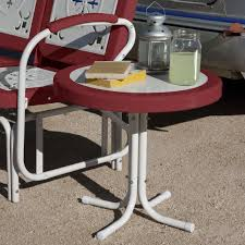 Outdoor Side Table Ideas by Coral Coast Del Rey 20 In Patio Side Table Hayneedle