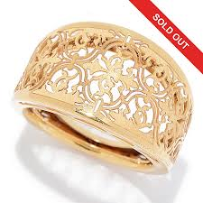 domed ring stefano oro 14k gold ricami detailed domed ring