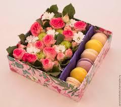 flower gift macaron flower gift box parfait co