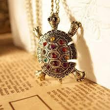 necklace vintage images Playful vintage turtle pendant necklace unique fashion jpg
