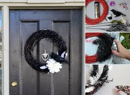 halloween door wreath classic orange black halloween fall with