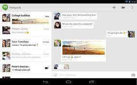 hangouts apk hangouts 2 0 216 apk for android now