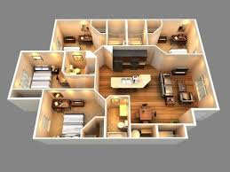 four bedroom house plans 25 more 3 bedroom 3d floor plans 3d bedrooms and building