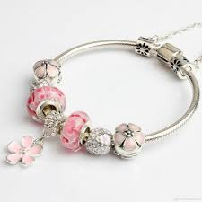 charm bracelet 2017 newest popular charm bracelets pink four leaf clover