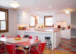 Red Kitchen Countertop - 20 elements to use when creating a retro kitchen
