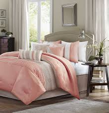 Coral Bedspread Amazon Com Madison Park 7 Piece Comforter Set Queen Coral