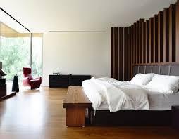 banc chambre coucher design interieur chambre coucher moderne murs aspect bois banc bois