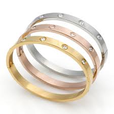 titanium steel love bracelet images Stainless steel luxury classic design love bracelets bangles jpg