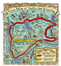 Map A Bike Route by Course Information Saint Paul Classic Bike Tour