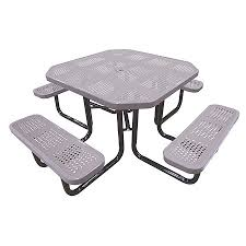 Exteriors Park Picnic Tables Commercial Picnic Benches Octagon by Outdoor Metal Picnic Tables Park Tables Bar U0026 Restaurant