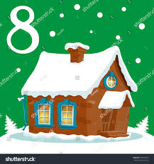 christmas advent holiday calendar banner cute stock vector