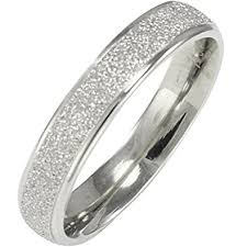wedding band for women stainless steel sparkle 3 8mm band ring women