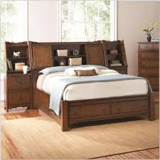 Free Standing Headboard Bedroom Queen Storage Bed With Bookcase Headboard For Additional