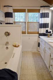 Navy Blue And White Bathroom by Navy Bathroom Budget Breakdown And Shopping Sources