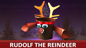 how to make a paper cup rudolf