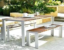 Patio Dining Set With Bench Contemporary Outdoor Furniture Patio Furniture Contemporary Modern