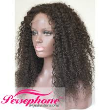persephone 100 real human curly wig front for