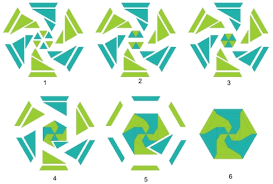 pattern block template challenge students to figure out how many