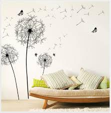 online get cheap wall sticker black aliexpress com alibaba group oujing home decor wallpaper new design wallpaper large black dandelion wall sticker art applique pvc