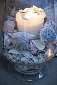 Decorating With Seashells In A Bathroom Decoración Con Souvenirs Beach Seaside Decor And Coastal Decor