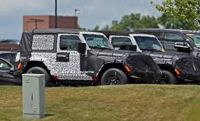 jeep wrangler 2 door soft top quartet of 2018 jeep wrangler jl 3 and 5 door prototypes spied