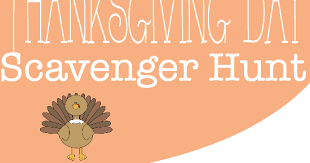 it s a s world thanksgiving scavenger hunt free printable