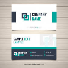 Flat Design Business Card Modern Business Card With Flat Design Vector Free Download