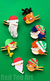 christmas clothespin puppets red ted art u0027s blog