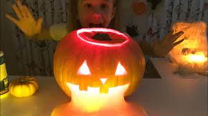 light up pumpkins for halloween making halloween light up pumpkin slime youtube