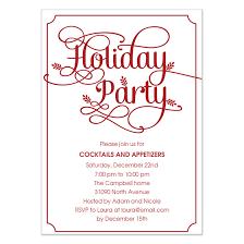 holiday party invitation template cimvitation