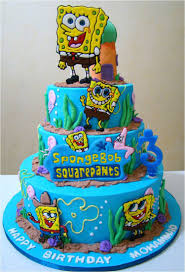 sponge bob cake birthday cake with spongebob