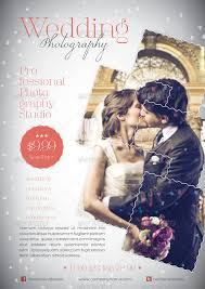 wedding flyer wedding photography flyer template by grafilker graphicriver