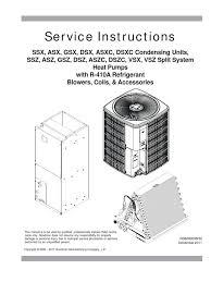 service manual r410a rs6200006r32 1 heat pump air