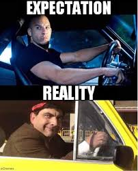 Fast And Furious 6 Meme - the cool driver expectation vs reality know your meme