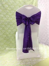 purple chair sashes 100pcs top quality purple satin chair sash 20x270cm for