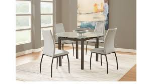 morrow black 5 pc round dining set contemporary