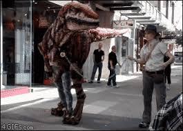 velociraptor costume velociraptor dinosaur costume gifs find on giphy
