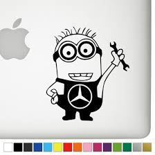 mercedes decal jerry the minion decal