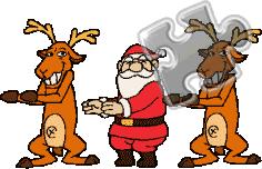 animated santa second marketplace santa reindeer christmas