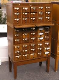 i would l o v e to have an antique card catalog case in my home