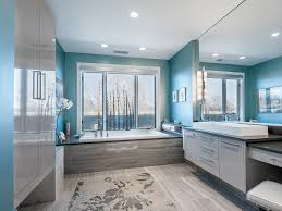 amazing blue bathroom ideas green decorating mosaic and gray light