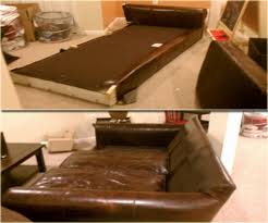 Leather Sofa Dyeing Service Leather Repair And Dyeing Services Before And After Image Gallery