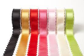 1 5 inch satin scalloped edge ribbon may arts wholesale ribbon
