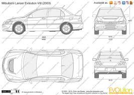 the blueprints com vector drawing mitsubishi lancer evolution viii
