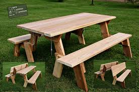 folding bench and picnic table combo plans friendly woodworking