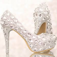 cheap silver wedding shoes luxury silver wedding shoes high heel bridal shoe with