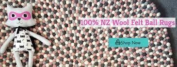 Wool Ball Rug Tik Tak Kids Beautiful Bedroom Decor For Kids