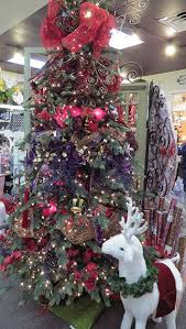 Red Gold And Purple Christmas Tree - elegant christmas tree featuring red purple and gold at the