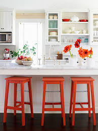 white kitchen accent colors interior design